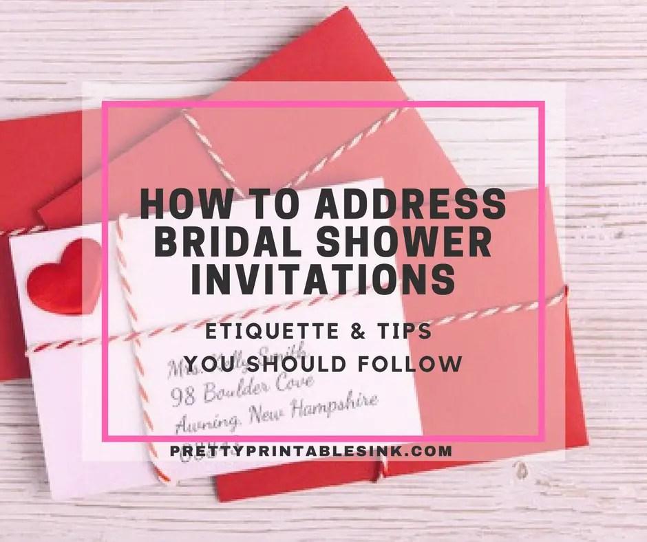 Etiquette For Addressing Wedding Invitations