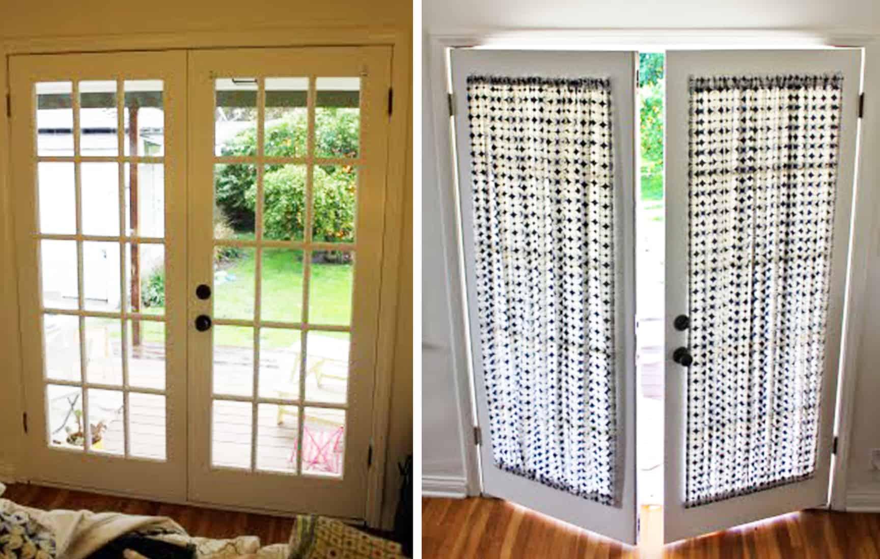 diy french door curtain panel tutorial