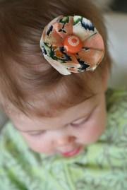 diy fabric flower hair clip pretty