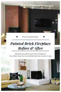 Painted Fireplace Before & After | Pretty Prudent