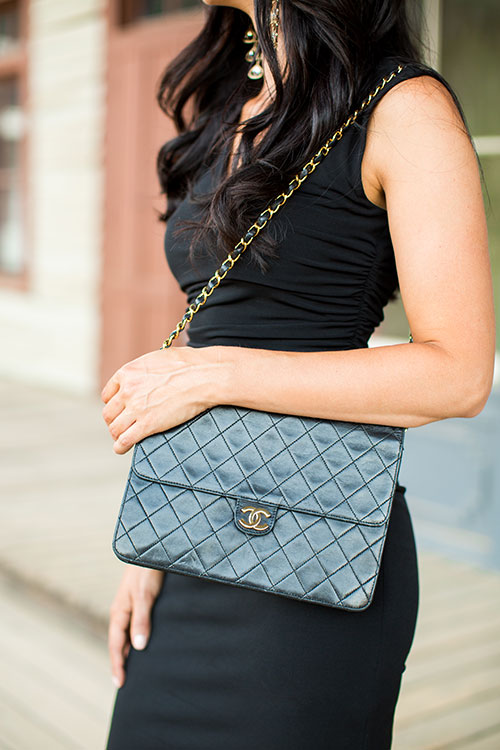 Pretty-Pure-Black-Dress-Chanel