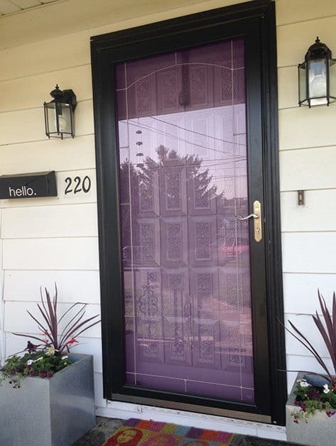 Purple front door color suggestions