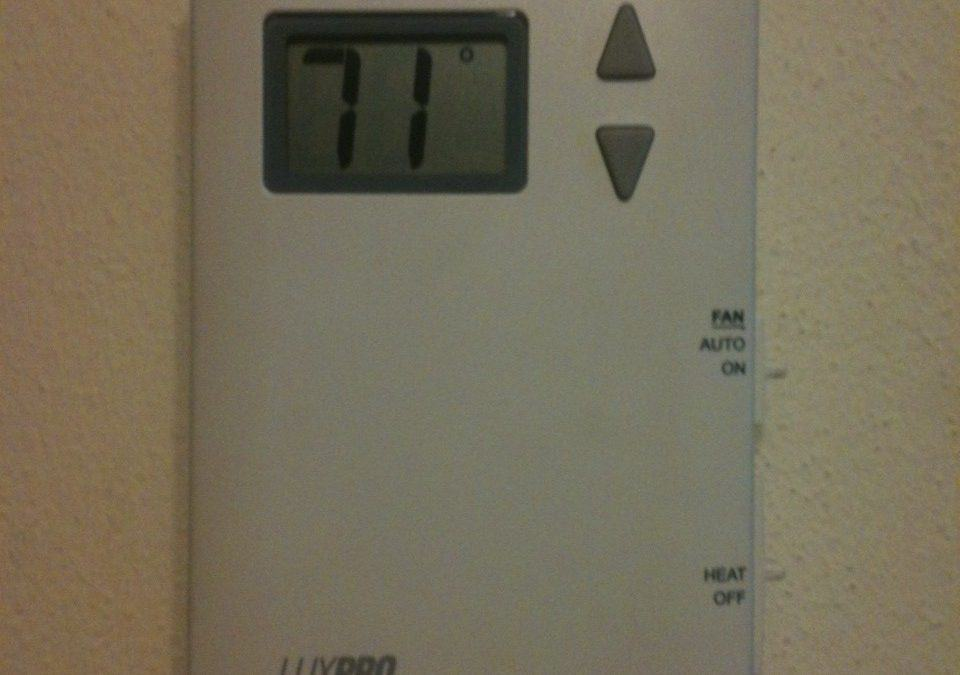 This is my new thermostat in the office