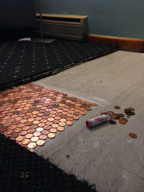 Laying your penny floor