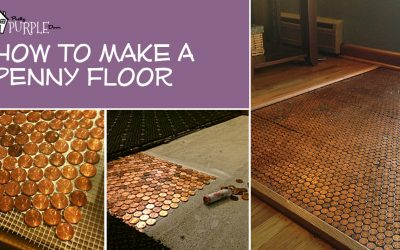 Copper Penny Floor Template - Pretty Purple Door