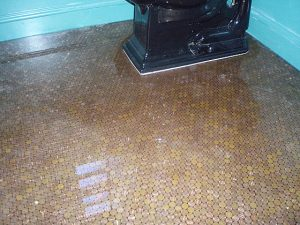 This is a photo from someone who sealed pennies in a bathroom with the BioClear 810 epoxy. It looks like GLASS. This will give you a good idea of what it will look like if you decide to use an epoxy.