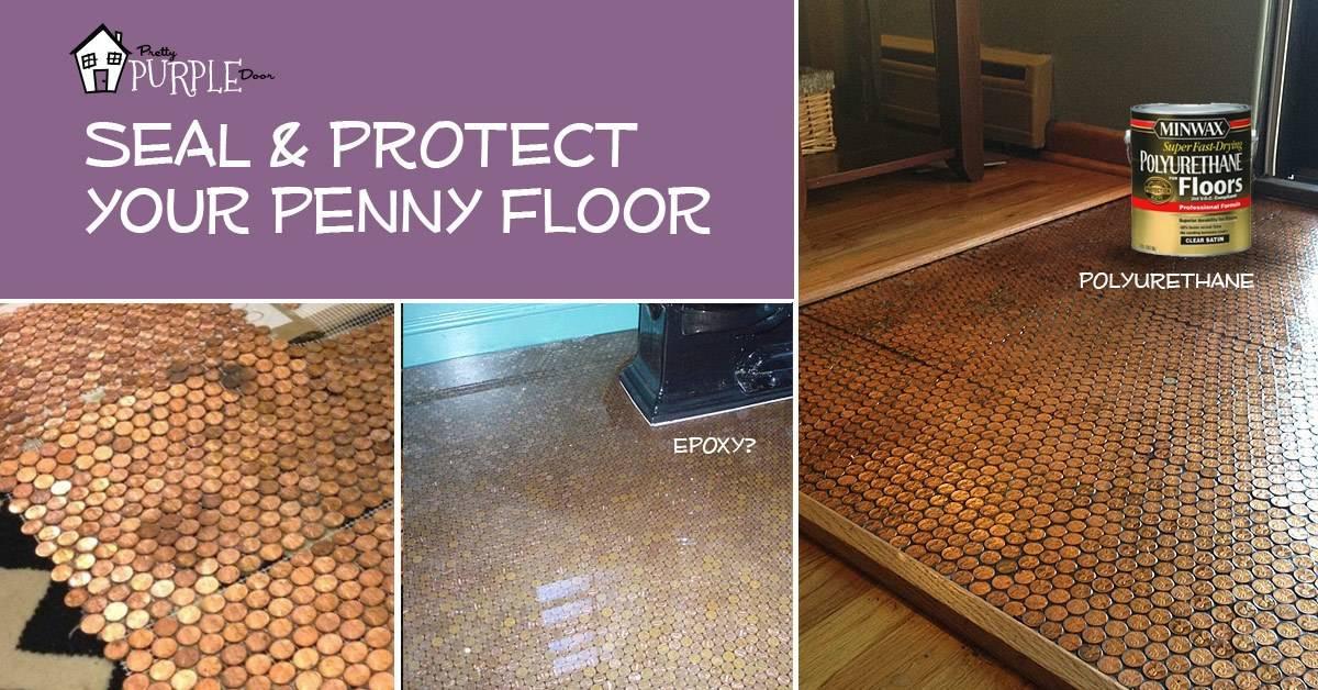 Copper Penny Floor (Part 4 of 4): Sealing the Floor #pennyfloor ...