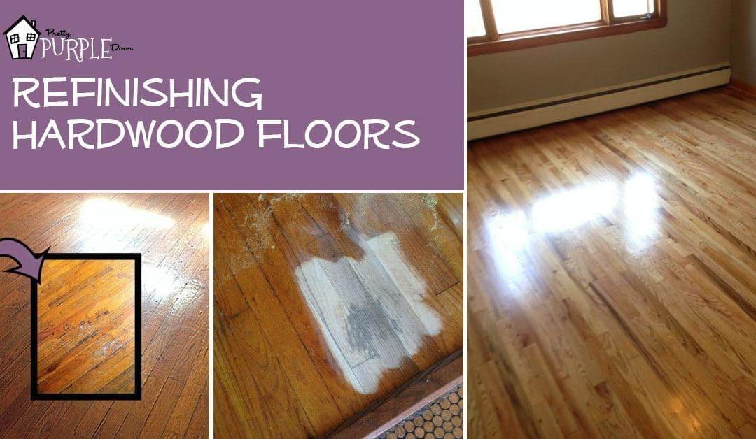 Refinishing Hardwood Floors Pretty Purple Door