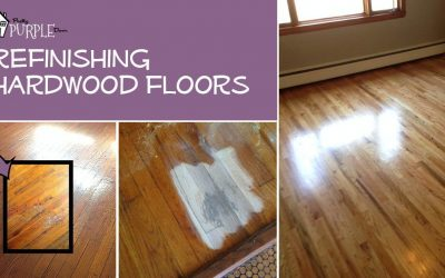 Refinishing hardwood floors PrettyPurpleDoor.com