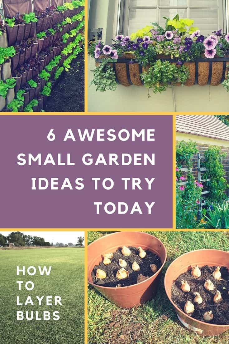 6 Awesome Small Garden Ideas to try today by PrettyPurpleDoor.com