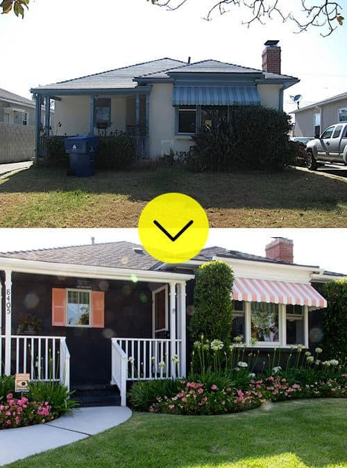 before and after curb appeal photos