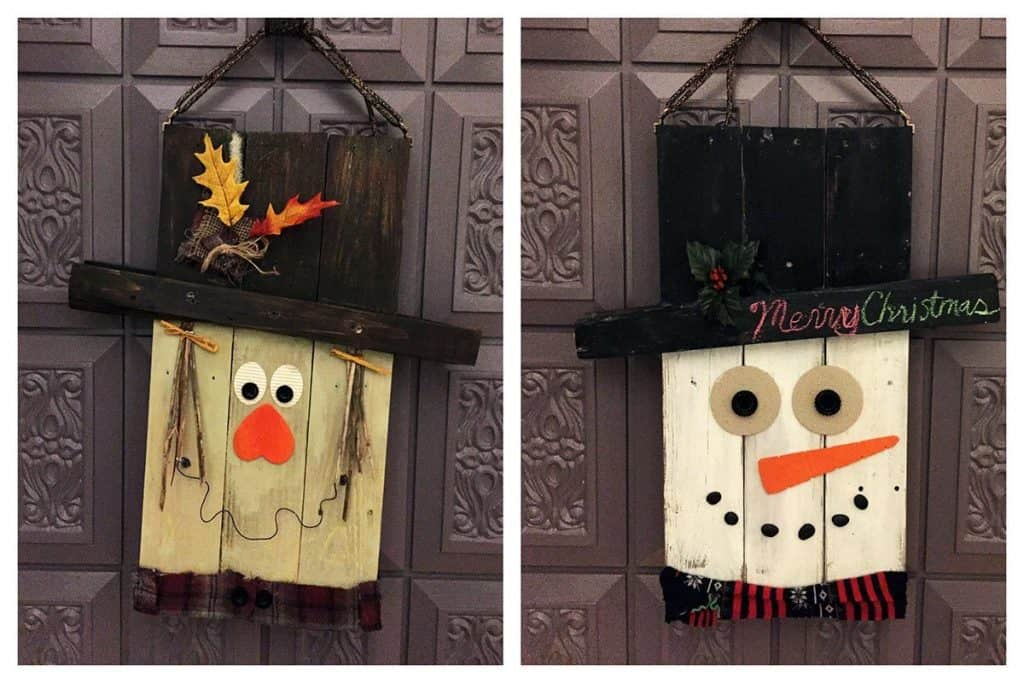 Reversible Pallet Door Hanger by PrettyPurpleDoor.com