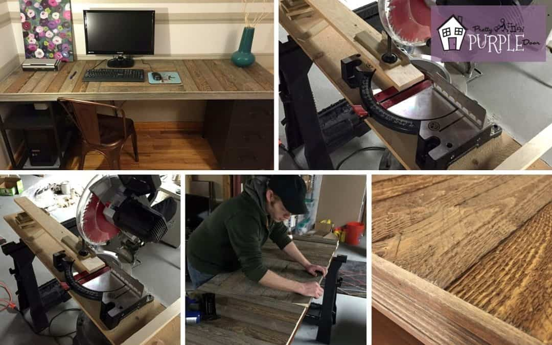 Charming How To Build A Reclaimed Wood Pallet Desk Top