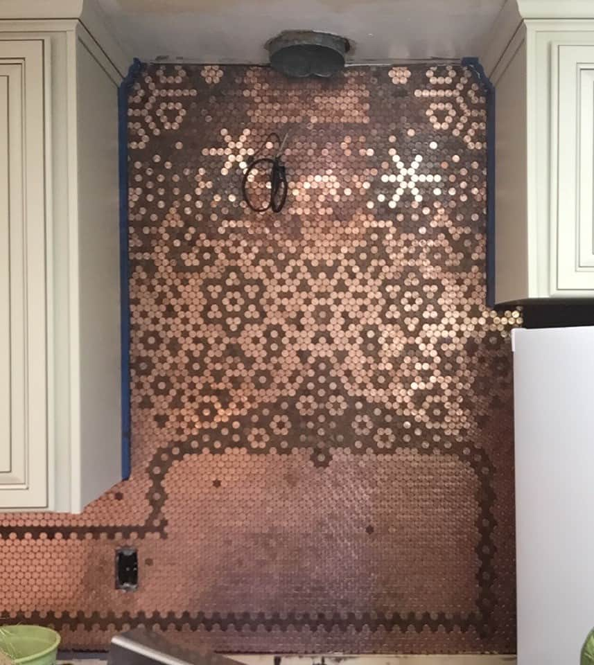Carolyn S Creative Penny Backsplash Pretty Purple Door