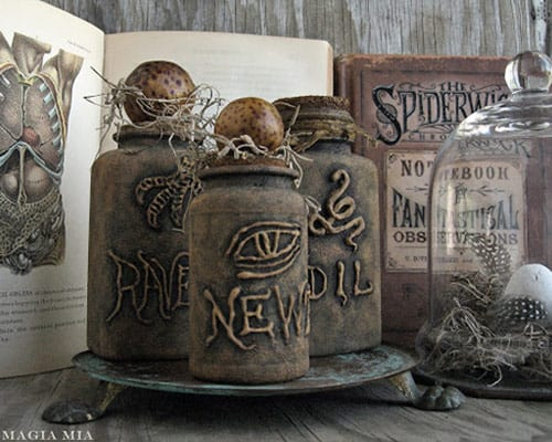 DIY Halloween Witch's Potion Bottles