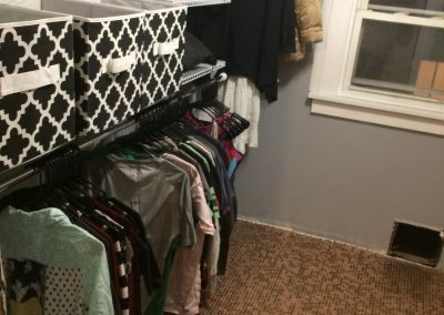 Nick's dreamy penny floor walk-in closet for his fiancé
