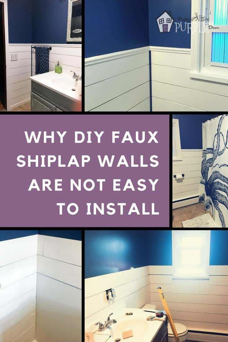 Why DIY Faux Shiplap Walls Are Not Easy To Install | PrettyPurpleDoor.com