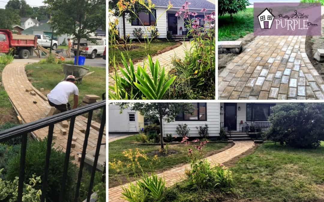 Charming brick paver walkway project