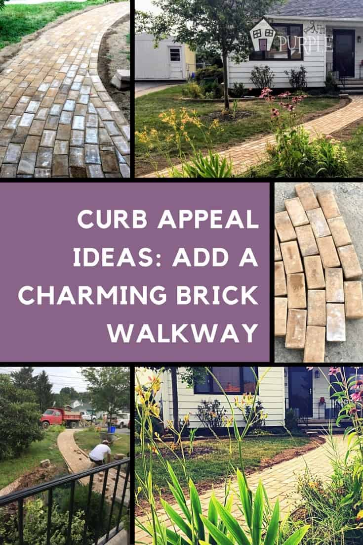 A charming brick paver walkway adds tons of curb appeal