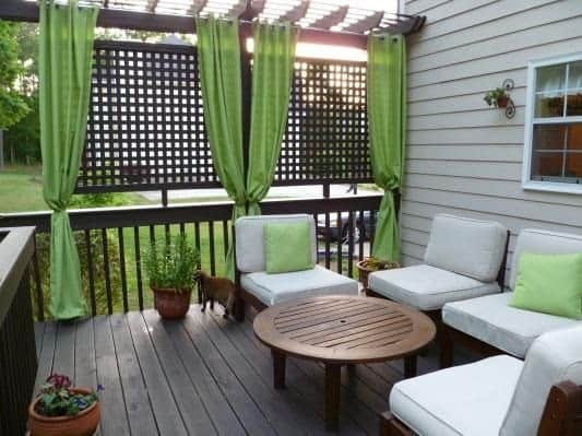 Creating Privacy from second story neighbor with deck screening