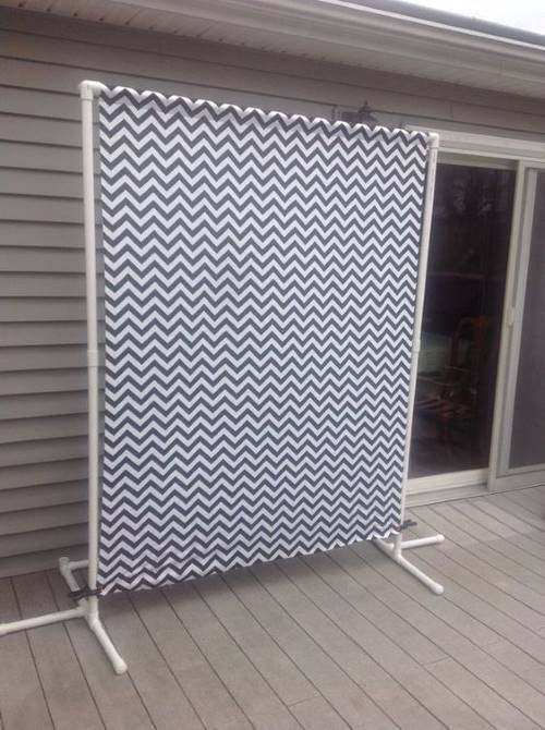 PVC Sheet screen for privacy from second story neighbor