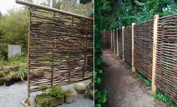 Wattle Fencing for Privacy from 2-story neighbors