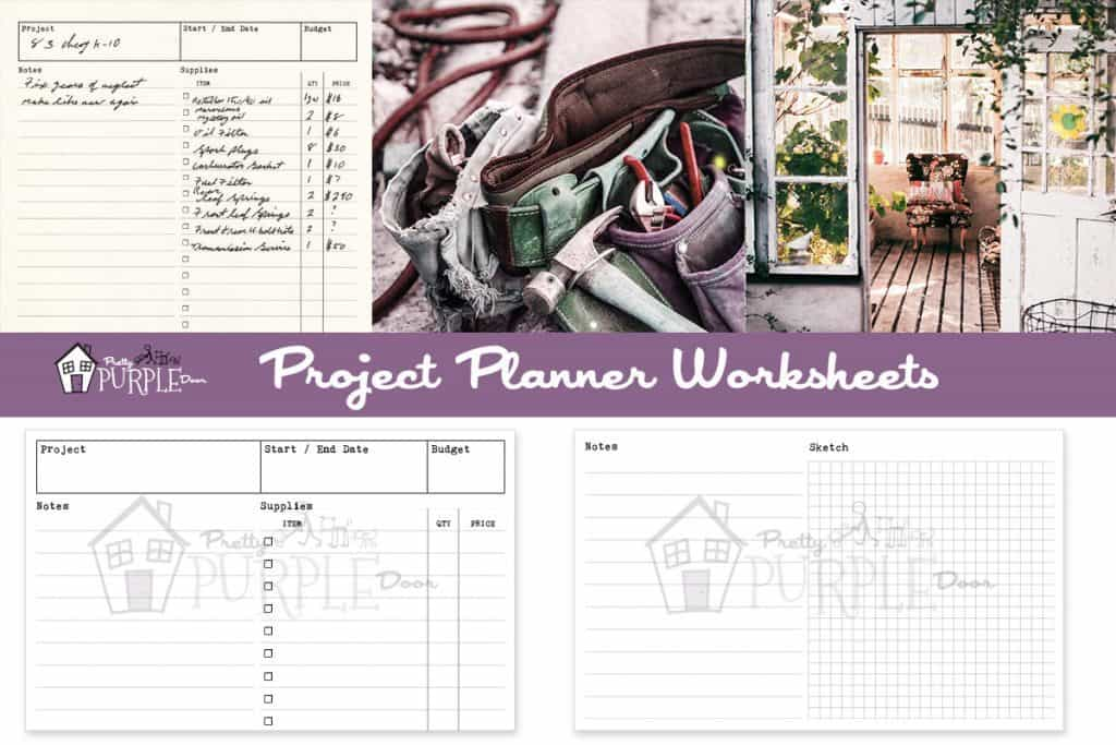 Project Planner worksheets