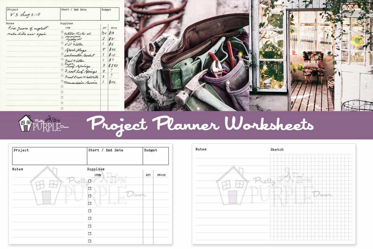 Project Planner Worksheets for Window Enlargement