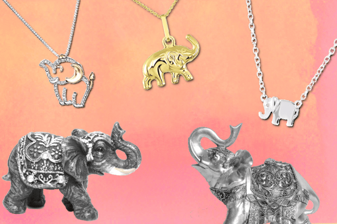Lucky Elephant Necklace UK