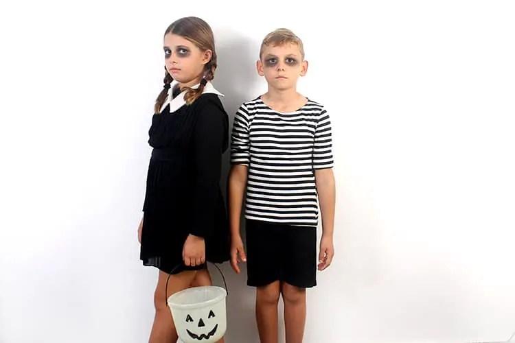 Wednesday and Puglesy Halloween Costume
