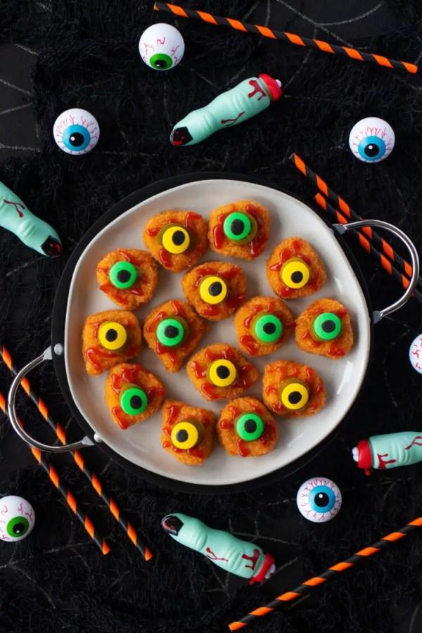 Eyeball Chicken Nuggets Halloween Finger Food