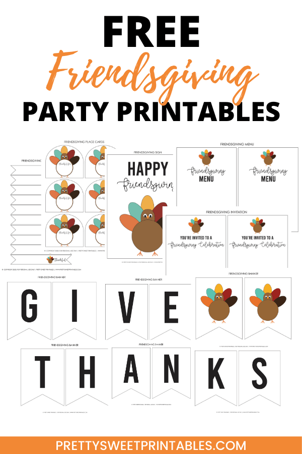 Free Friendsgiving Party Printables Pin