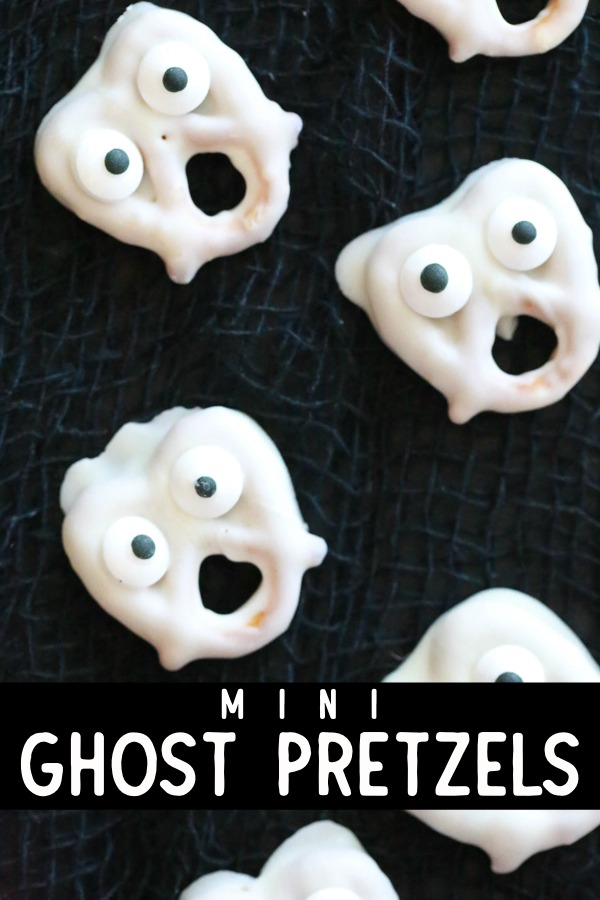 Mini Ghost Pretzels Halloween Finger Food
