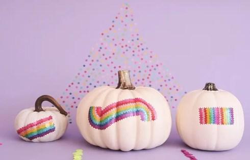 Sticker Decorated Pumpkins