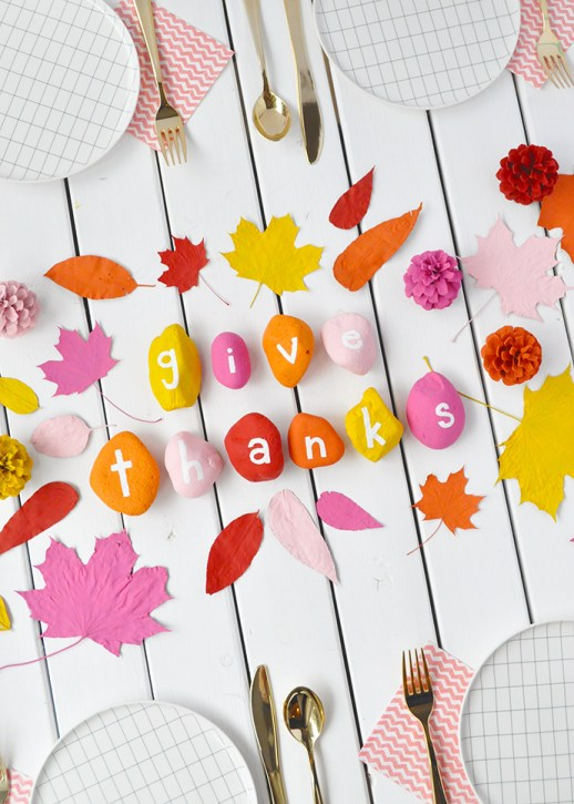 kids thanksgiving party ideas give thanks painted rocks