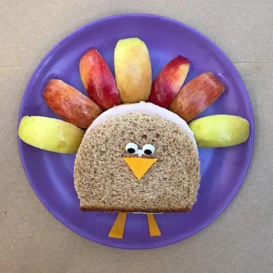 kids thanksgiving party ideas turkey sandwiches
