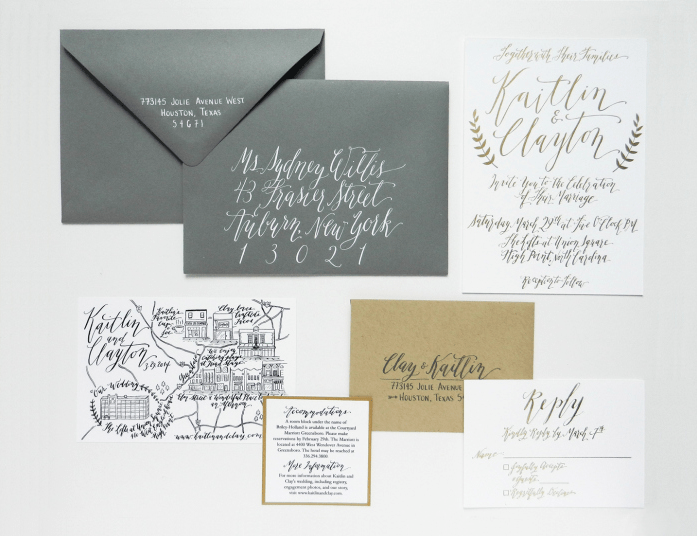 Elegantly Whimsical Calligraphy From Lindsey Of The Postman S Knock Studio In Boulder Colorado Link