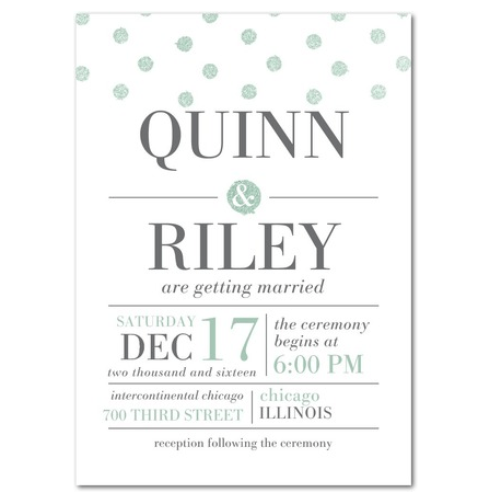 Unbelievably Awesome Polka Dot Wedding Invitations