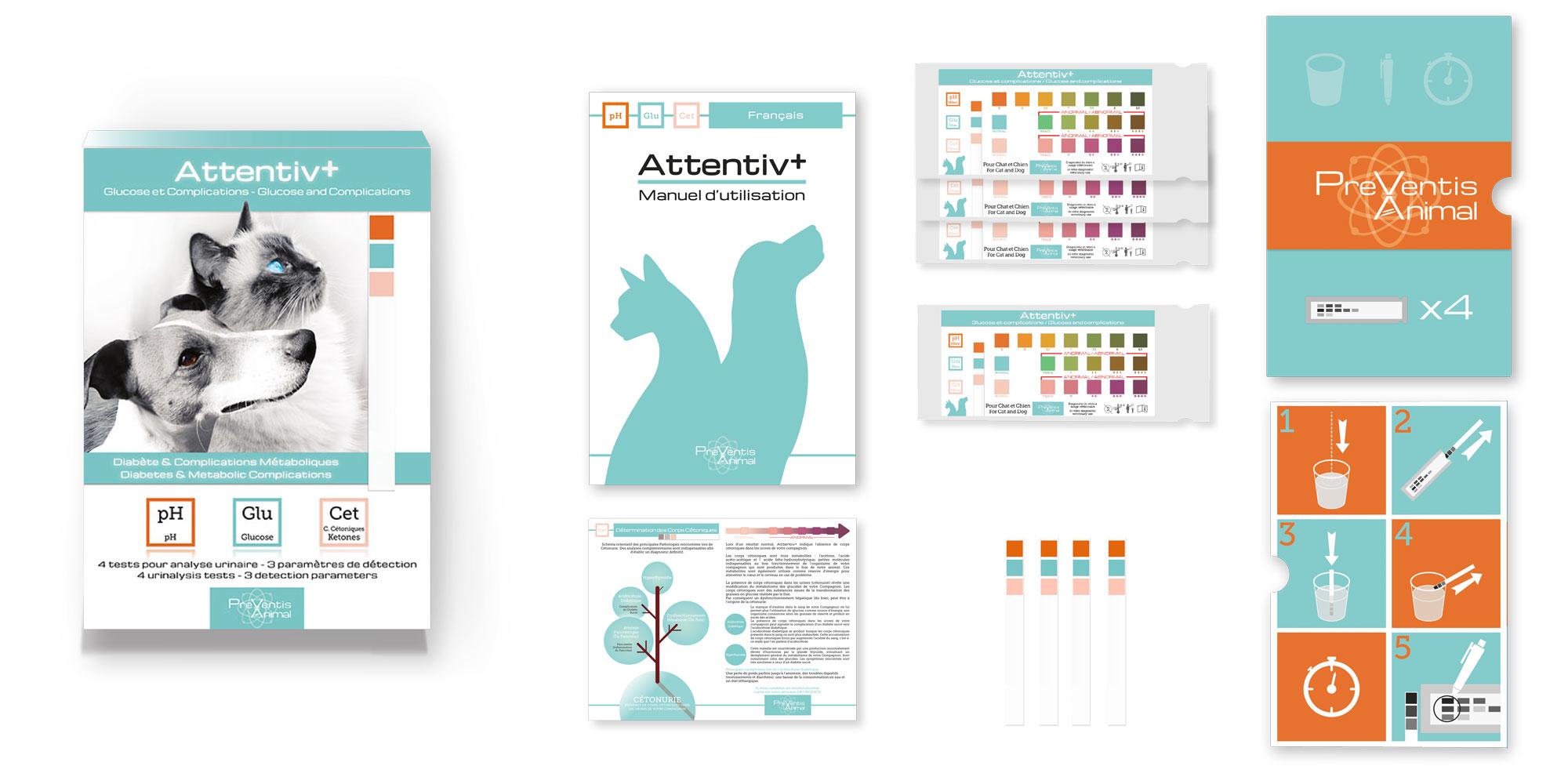 Comment détecter les problèmes et complications du diabète du chat et du chien avec le test de santé pour chien Attentiv+ ?