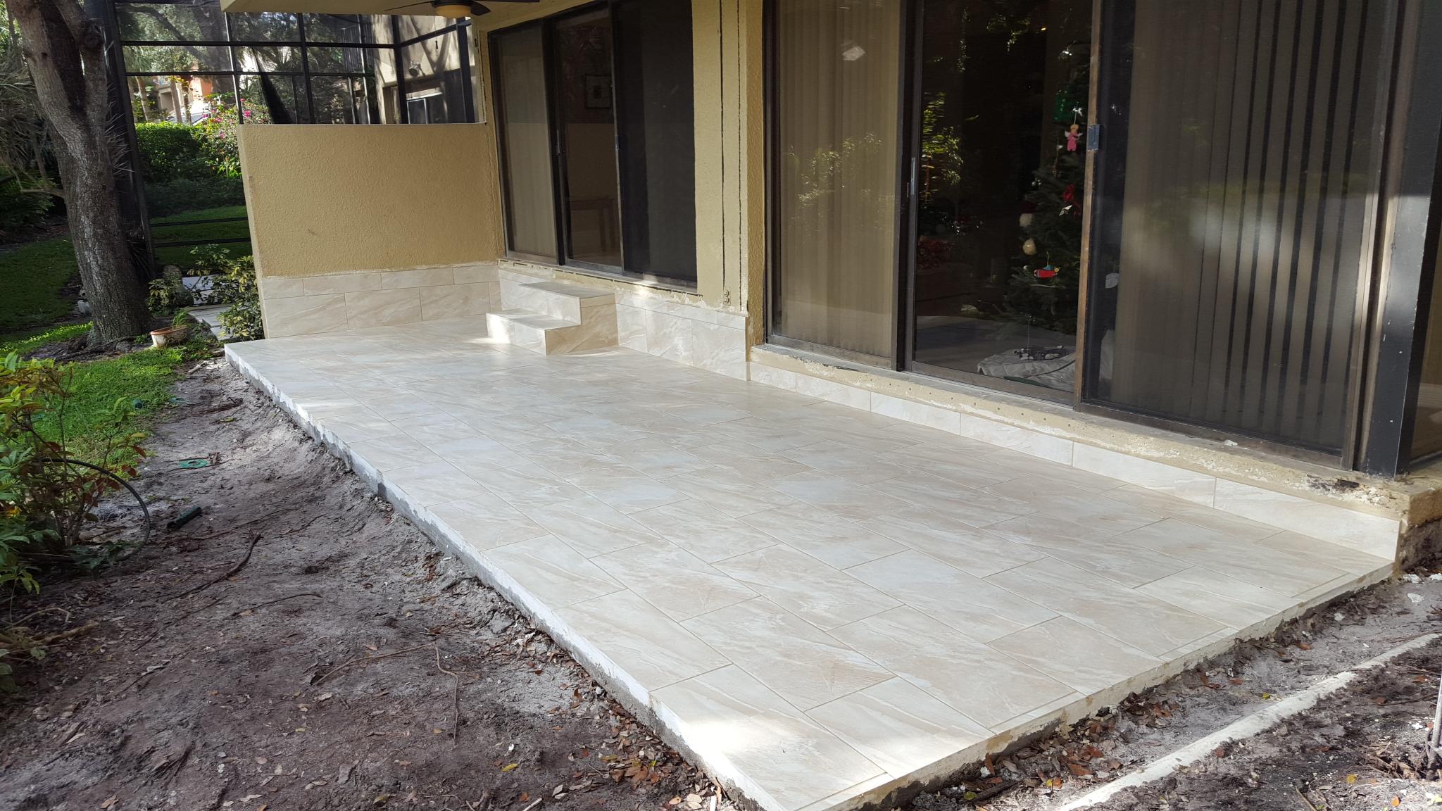 new concrete back porch patio deck