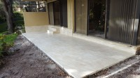Concrete patio and tiles for Louis B in Boca Raton
