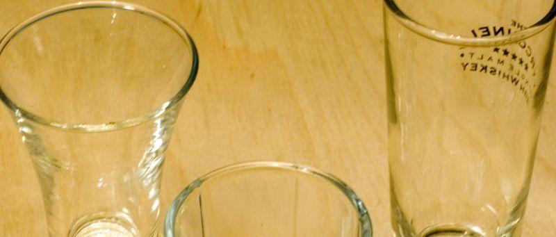 come imballare i bicchieri