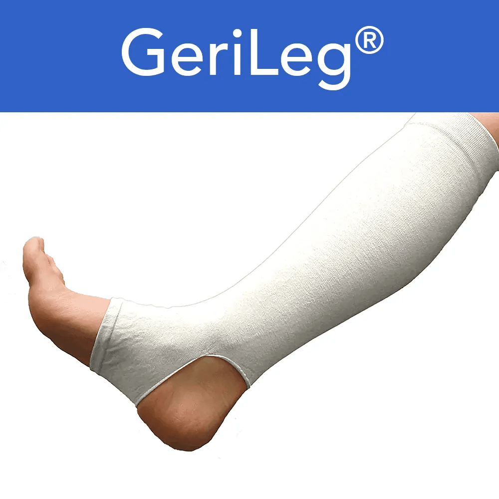 White Leg Gerisleeve To Prevent Skin Tears