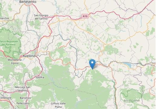 Epicentro terremoto Nusco Avellino