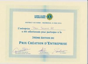 concours lions Club 2016 Entreprendre 2016