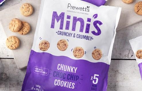 Prewett's launch gluten free Mini's Chunky Choc Chip Cookies