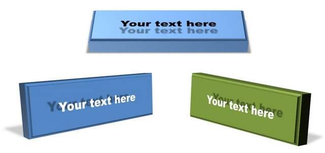 3D Text Boxes