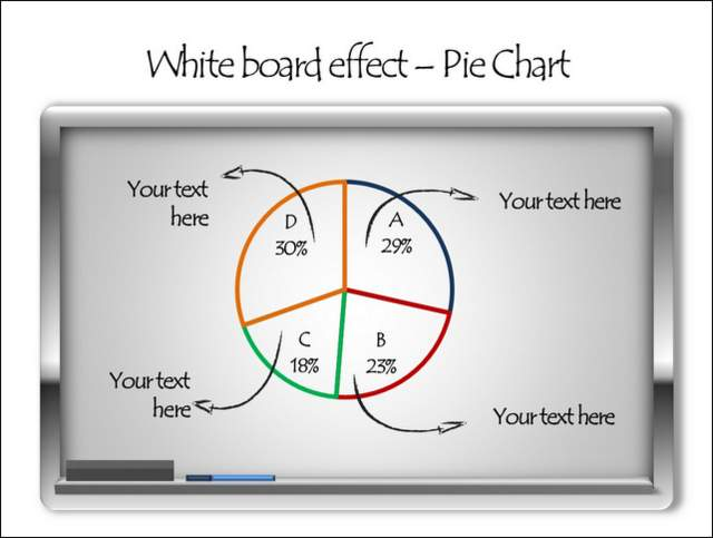 White Board With Hand Drawn Effect Chart