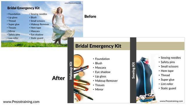 Before After Checklist Slide Makeover
