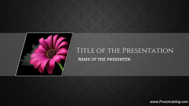 Title Slide With Creative Picture Shape